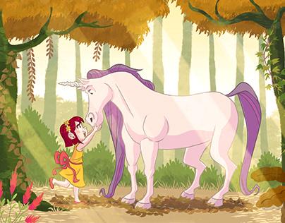 Concept unicorn for children book
