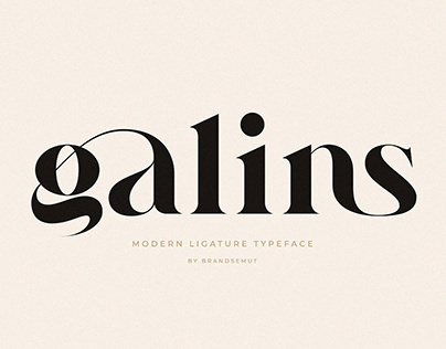 Ligature Serif Typeface