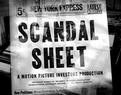 Picture Perfect: DVD reissue of Scandal Sheet