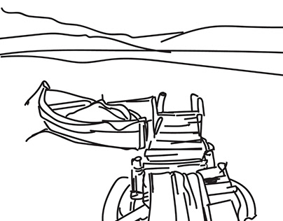 Scenery Line Art - 2