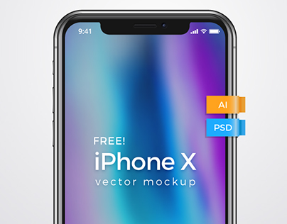 iPhone X - FREE VECTOR MOCKUP TEMPLATE