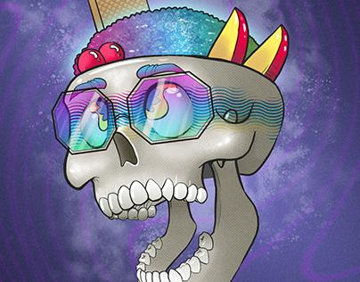 Cholado Skull Illustration