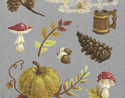 Autumn and winter stickers