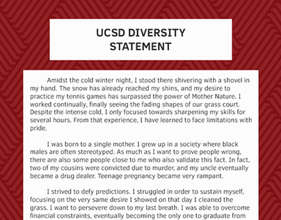 Ucsd diversity statement sample on behance for Diversity policy template