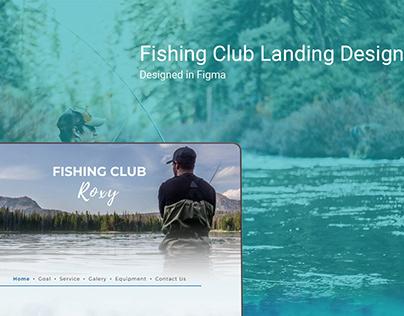 Landing Page, Fishing Club