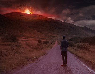 It's not faith, its just a volcano...