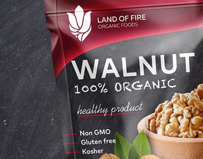 Organic nuts packaging design