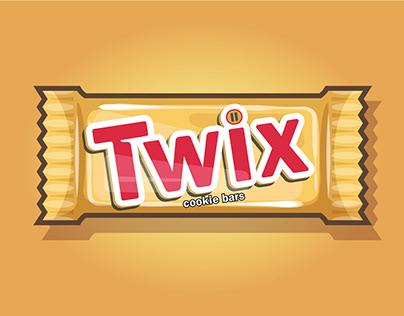Twix Chocolate Bar Illustration