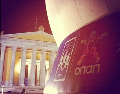 3D Dome - Opap kiosk Athens Marathon 2011
