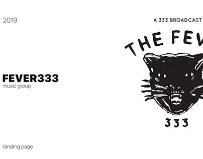music band concept site Fever333