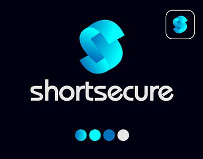 S letter shortsecure tech brand logo deisgn