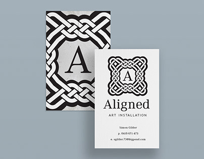Aligned Art Installation Business Cards