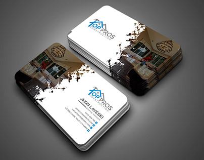 Splash Real Estate Business Card Design Template