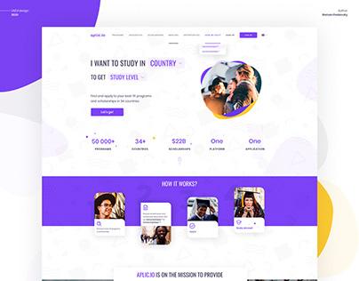 aplic.io - Study Abroad Website Redesign