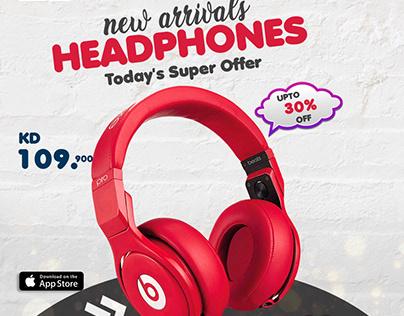 NEW ARRIVALS HEADPHONES