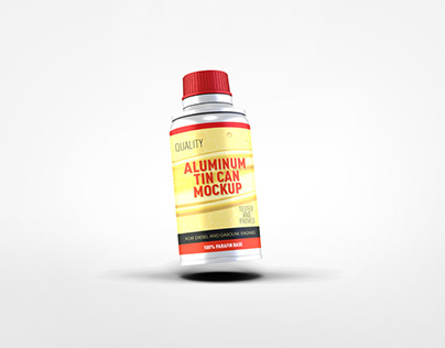 Aluminum Tin Can Mockup