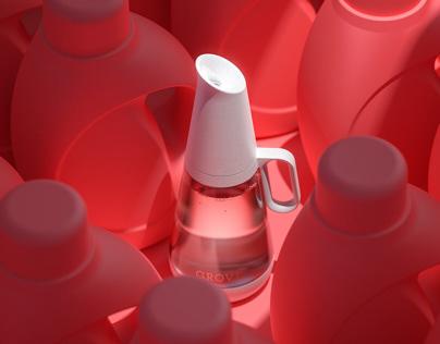 Grove - Reusable Glass Laundry Bottle
