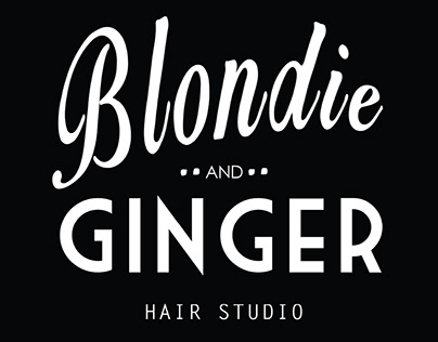 Freelance: Collateral for Blondie & Ginger Hair Salon