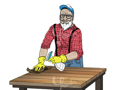 Grandpa Gus illustrations