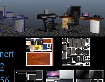 3D Model/Textured Workspace