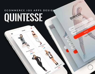 Quintesse - E-commerce iOS Apps Design