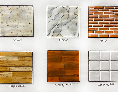 Materials/Finishes Renderings
