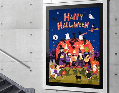 Happy Halloween Hyundai Premium Outlets illustration