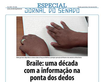 Especial Jornal do Senado - Braile