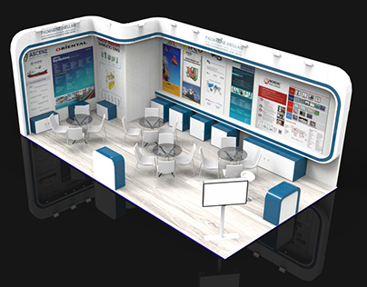 "Exhibition kiosk for ""Palmarine"" company"
