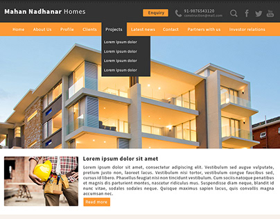Construction company website design - 2015