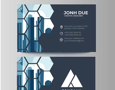 abstract city business card design