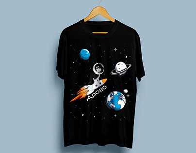 Dog With Space Craft tshirt design Bundle