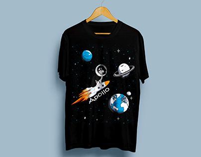 Dog With Space Craft tshirt design Bundle
