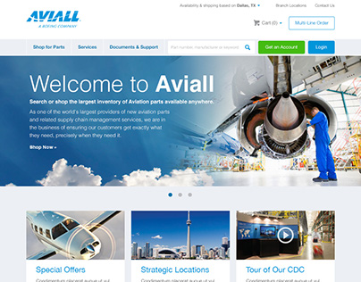 Web Design for Aviall - a Boeing Company