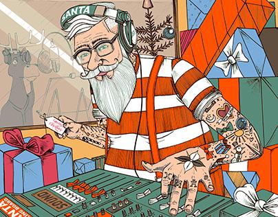 Commission for Sauce Music - 'Santa Remixmas Tape'