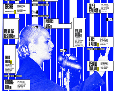 news device — Eva Perón