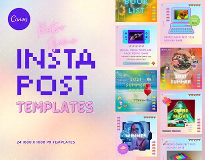 Instagram Templates - Canva Retro Game Summer Post