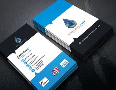 In.no.va.tion water Business Card