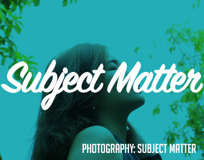 PHOTOGRAPHY: Subject Matter