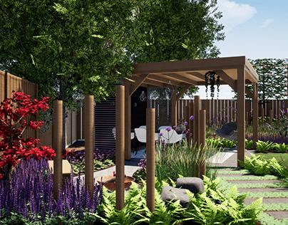Visualisatie natuurlijke tuin te Nuenen