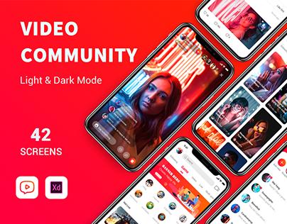 Video community App UI Kit