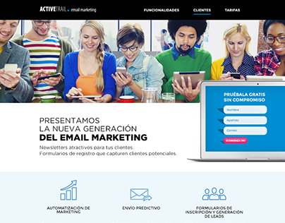 Landing Activetrail - Email Marketing
