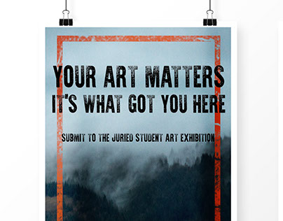 Juried Student Exhibition Branding Submission
