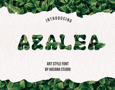 Azalea art font