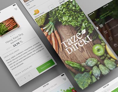 Tazedirekt App Design