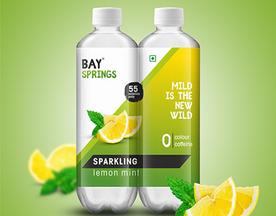 Packaging Design for Sparkling Water Brand Bay Springs