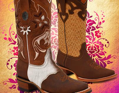 Displays Tombstone boots