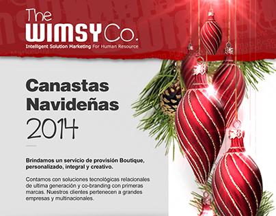 Newsletter de cajas navideñas para empresas.