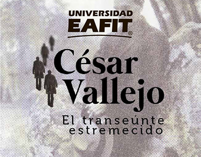 Diseño folleto Cesar Vallejo, Eafit.