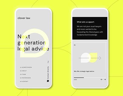 Brand ID & Corporate Website — Clover Law